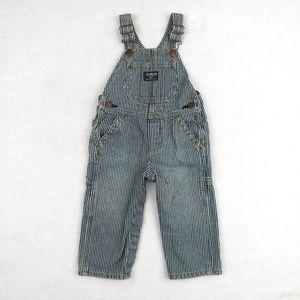 OshKosh B'Gosh Striped Overalls Size 18 Months